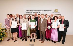 Staatsehrenpreis für die zehn besten Brenner Bayerns 2014