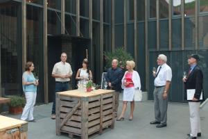 Weinbaubereisung des Regierungspräsidenten  Dr. Paul Beinhofer im Weingut Rainer Sauer