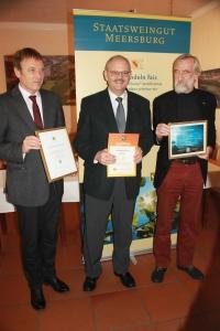 Ministerialdirektor Jörg Krauss, Dr. J. Dietrich, Prof. Gemmrich